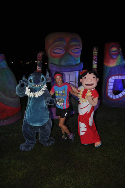 Lani visits with Lilo & Stitch