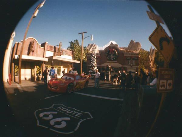 Lightning McQueen & Radiator Springs Fire Dept Fisheye